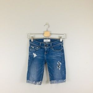 Abercrombie Kids | Denim Distressed Bermuda Shorts